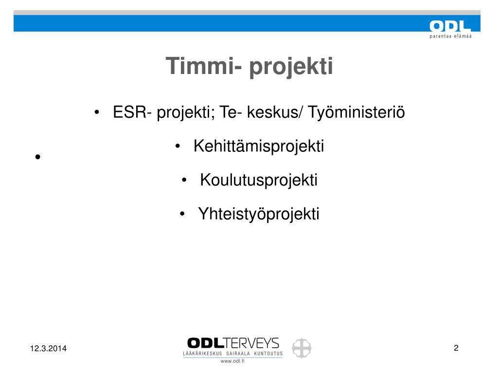 Timmi- projekti
