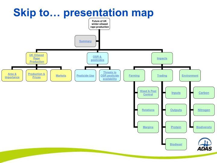 Skip to presentation map