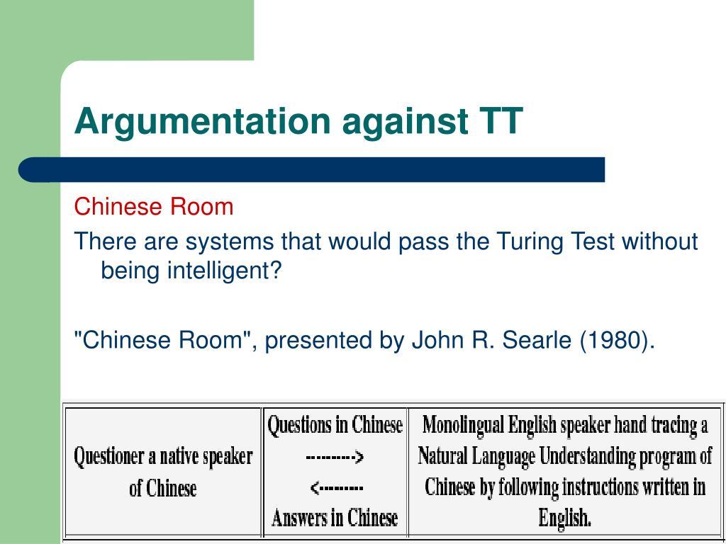 Argumentation against TT