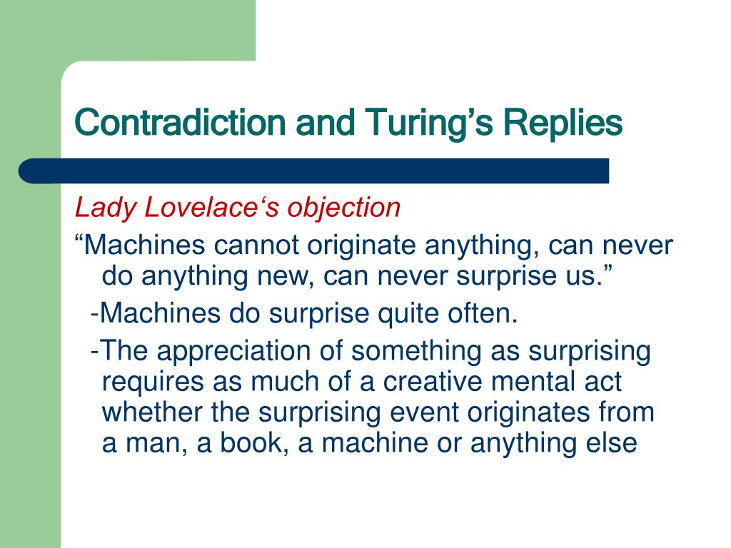Contradiction and Turing's Replies
