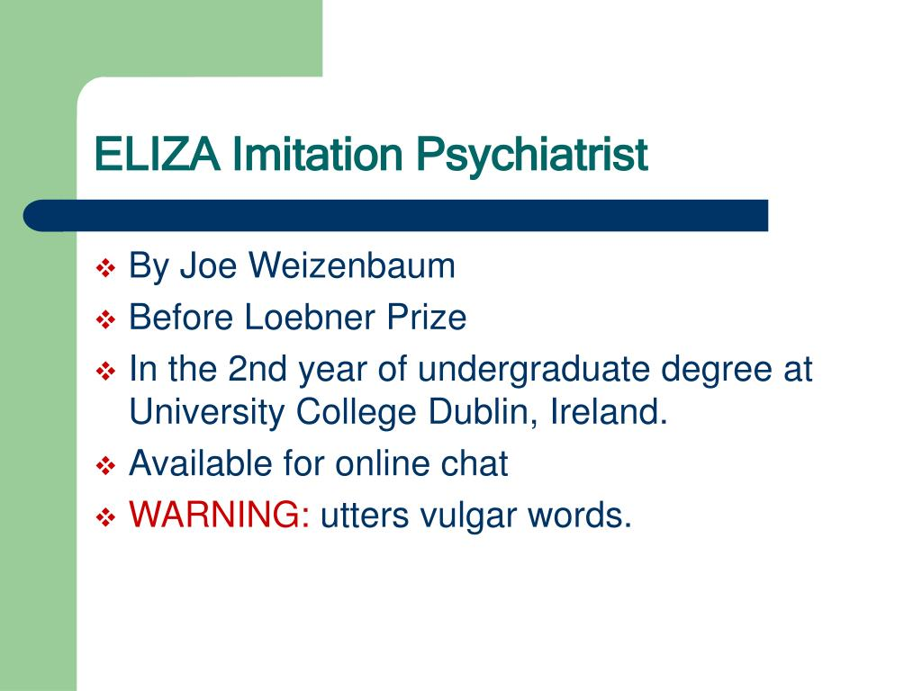 ELIZA Imitation Psychiatrist