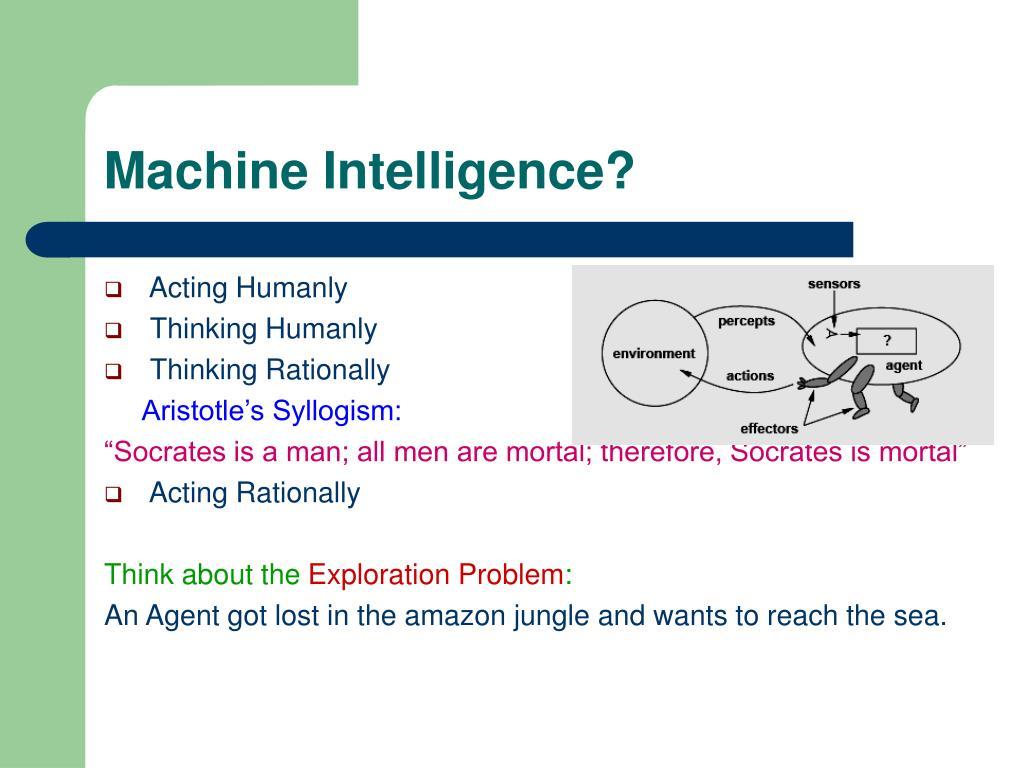 Machine Intelligence?