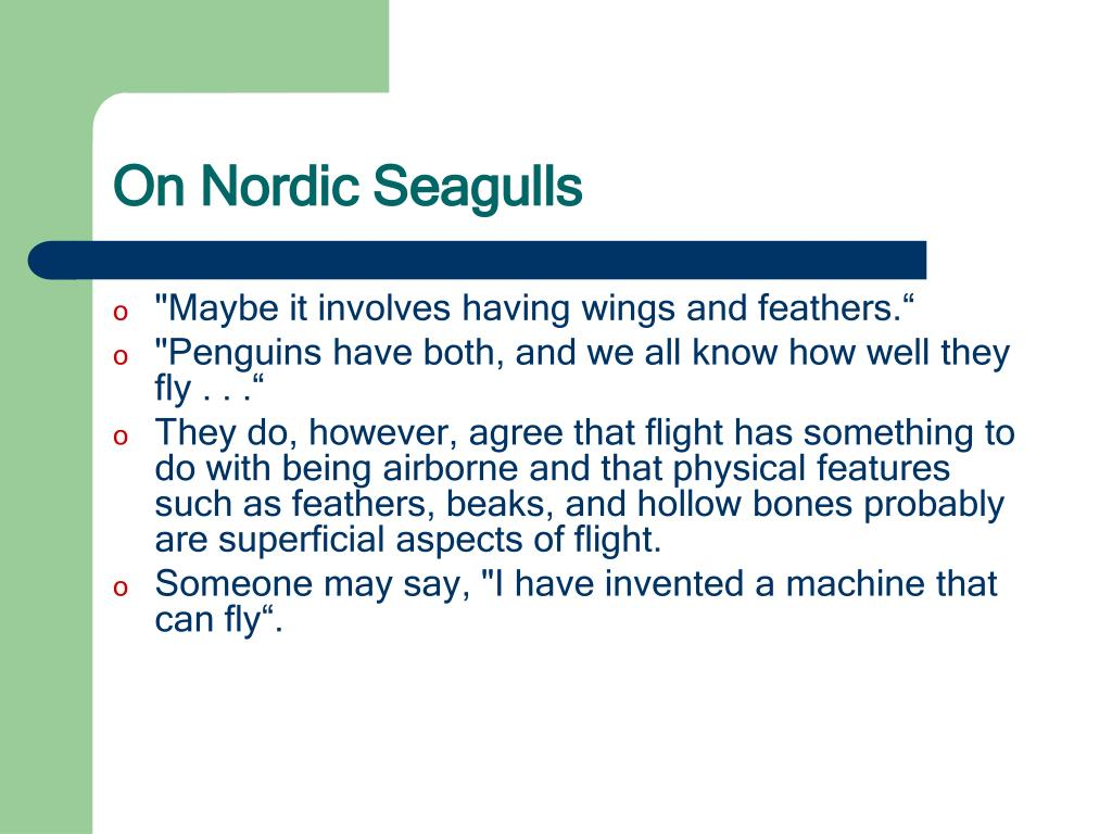 On Nordic Seagulls