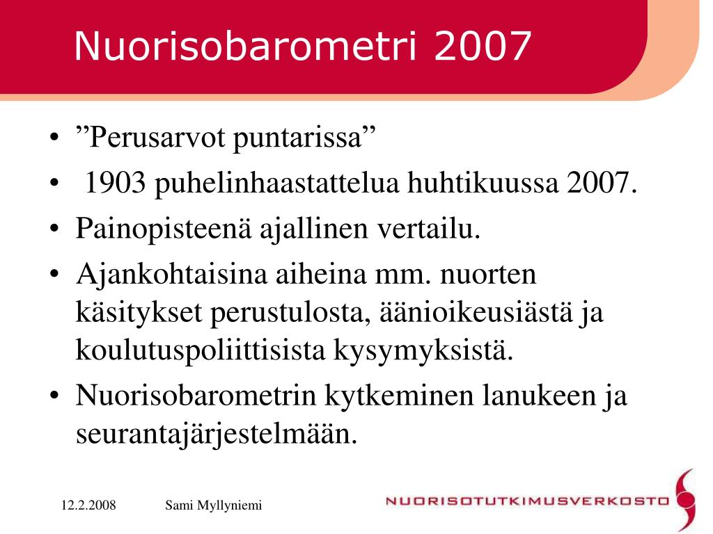 Nuorisobarometri 2007