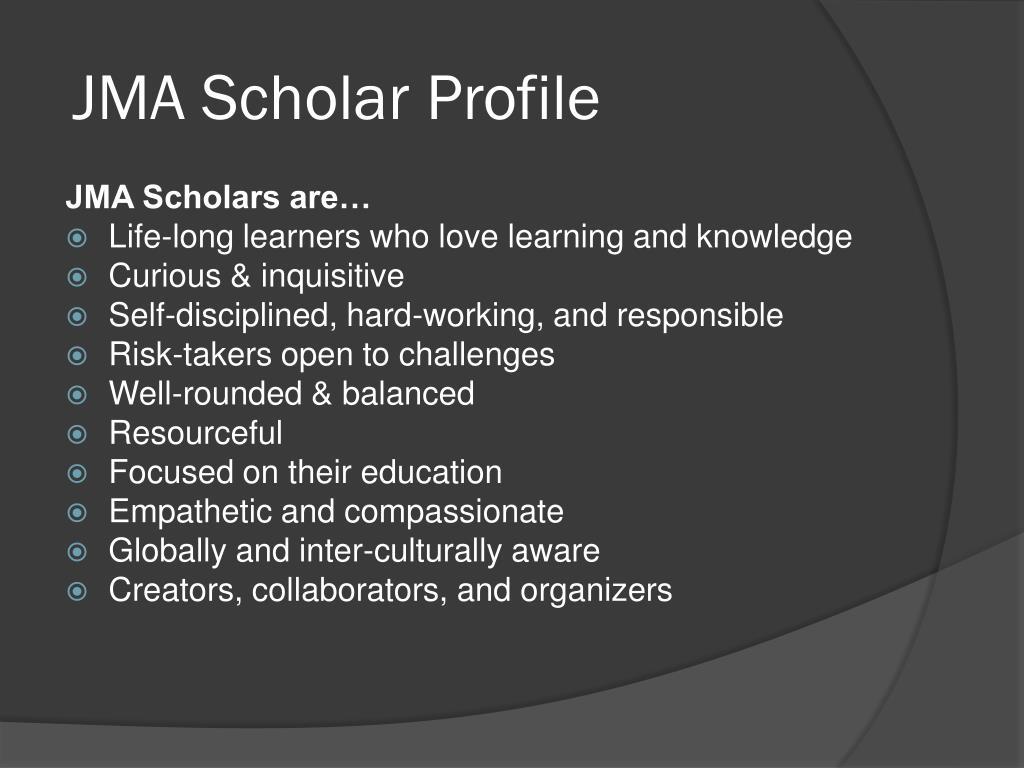 JMA Scholar Profile