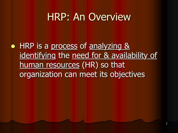 need of hrp