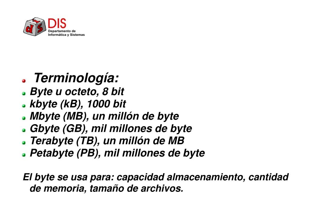 Terminología: