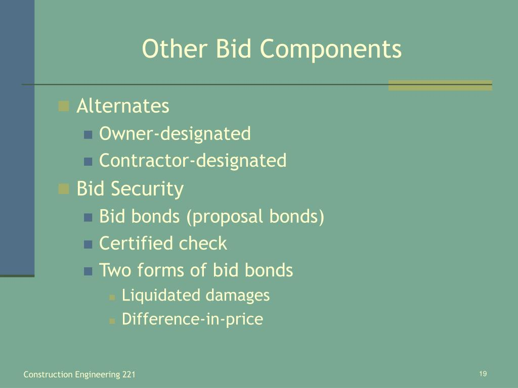 Other Bid Components