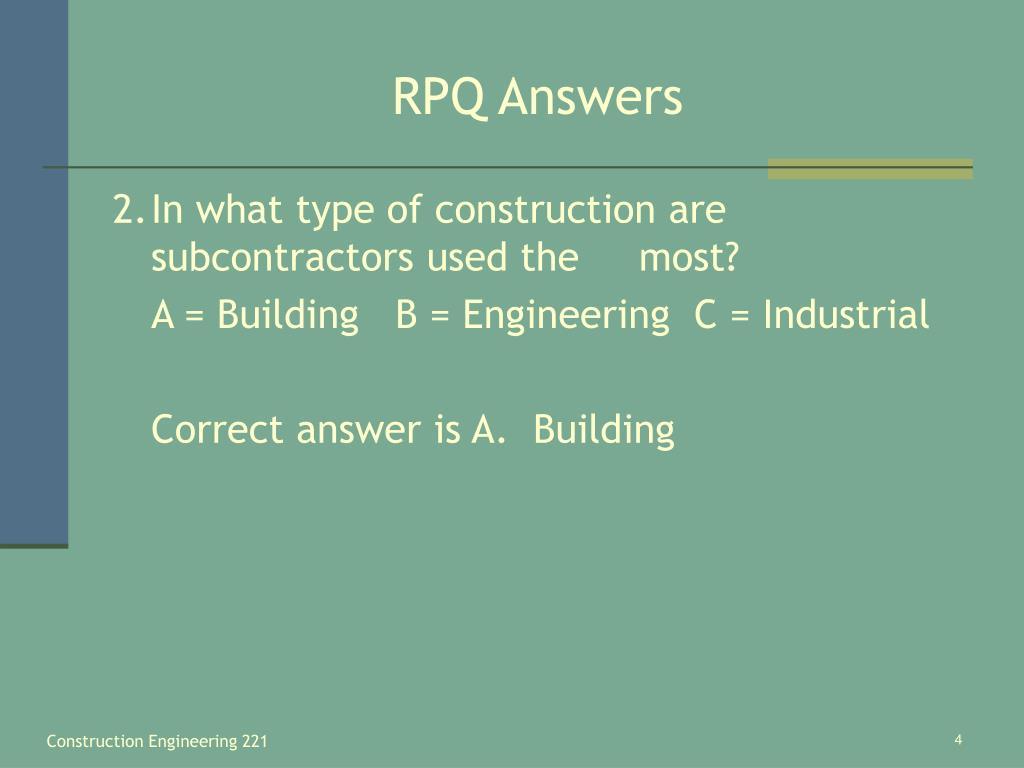 RPQ Answers
