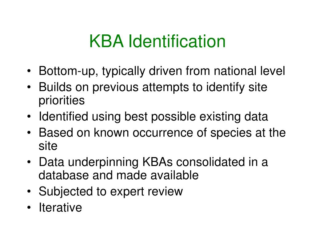 KBA Identification