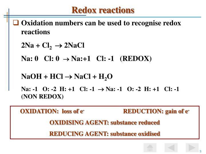 Redox reactions3