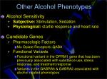 other alcohol phenotypes