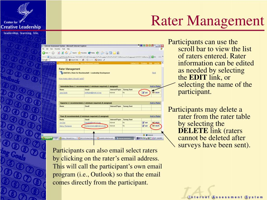 Rater Management