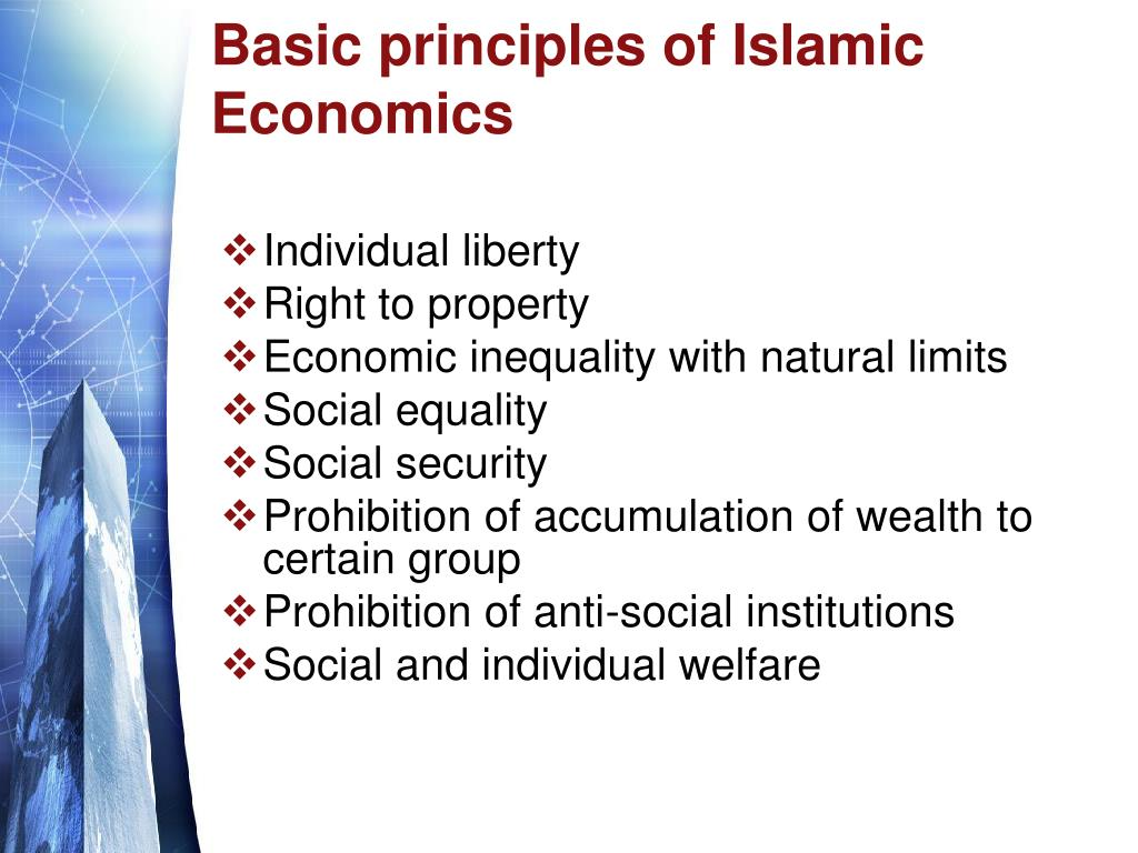Basic principles of Islamic Economics