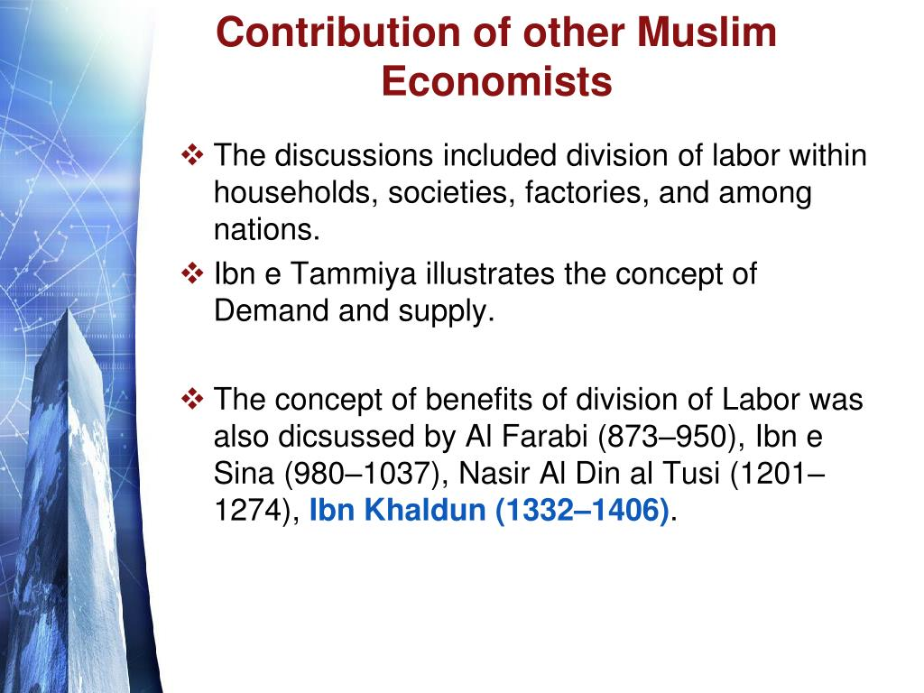 Contribution of other Muslim Economists