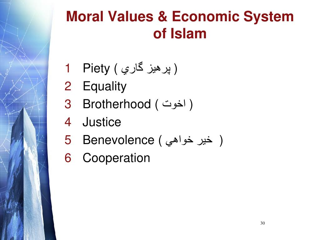 Moral Values & Economic System of Islam