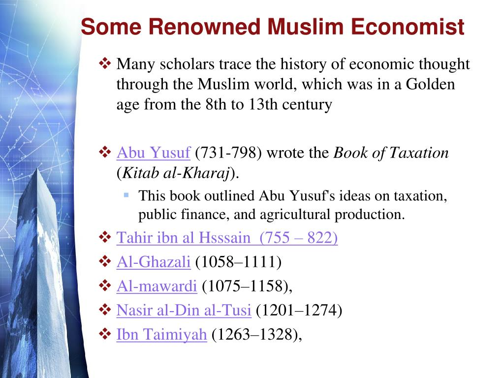 Some Renowned Muslim Economist