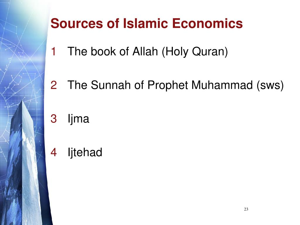 Sources of Islamic Economics