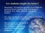 are students taught the basics