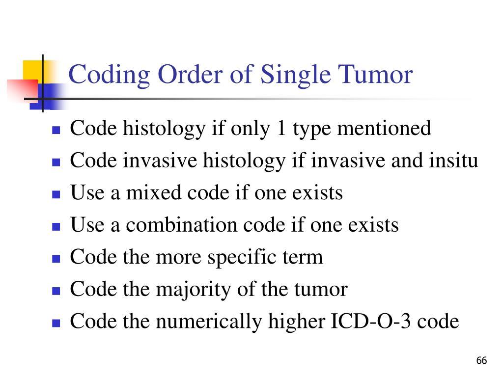 Coding Order of Single Tumor