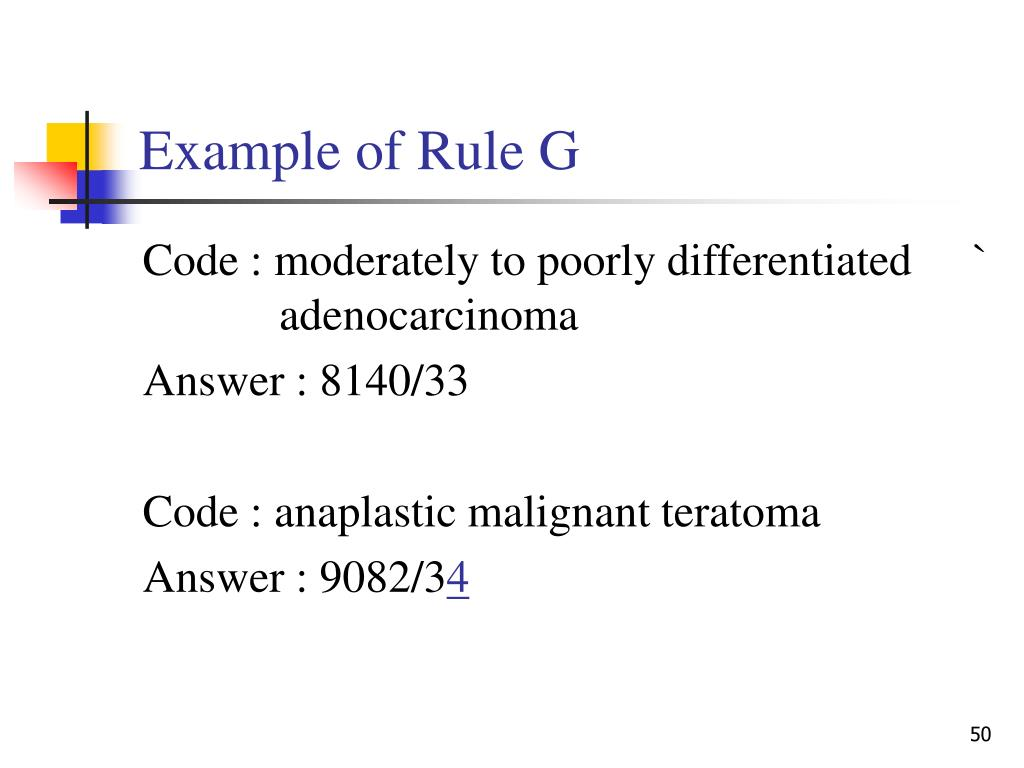 Example of Rule G