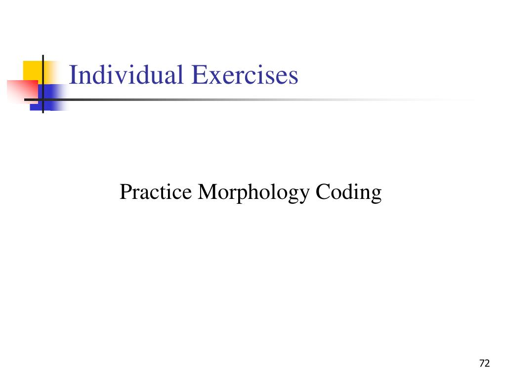 Individual Exercises