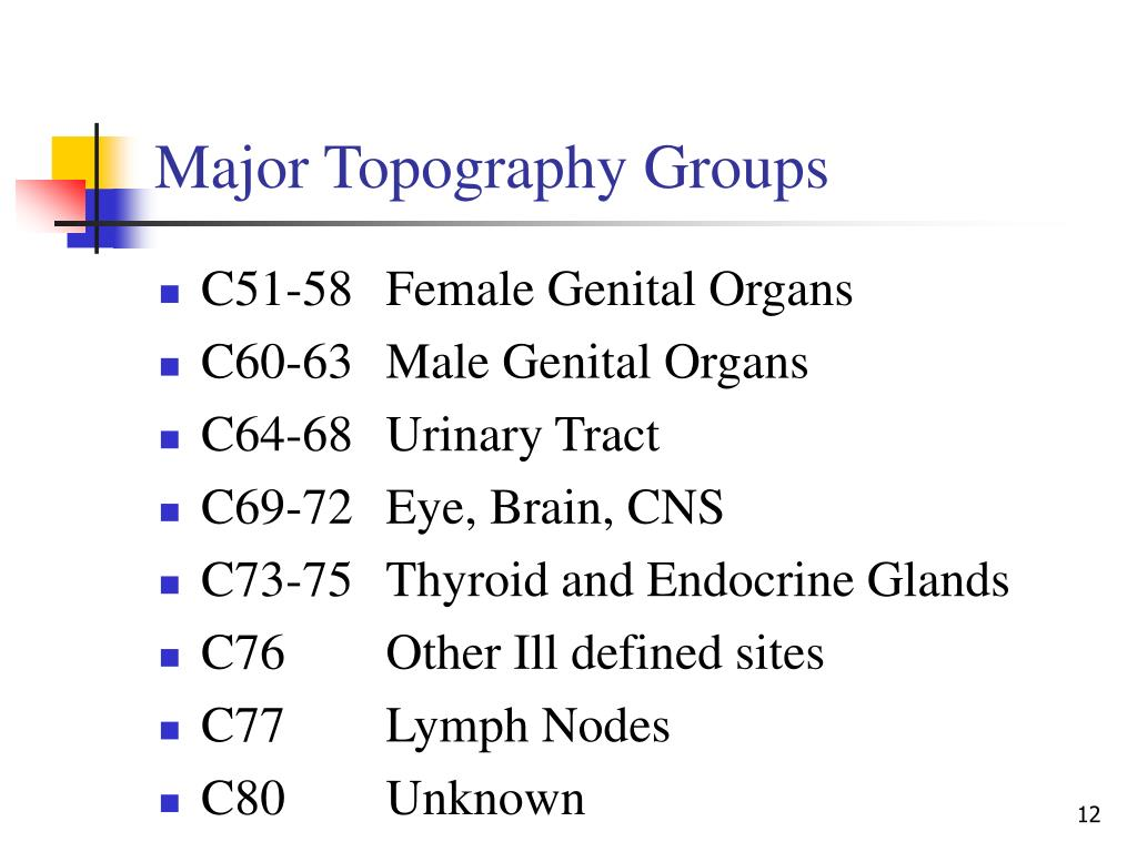 Major Topography Groups