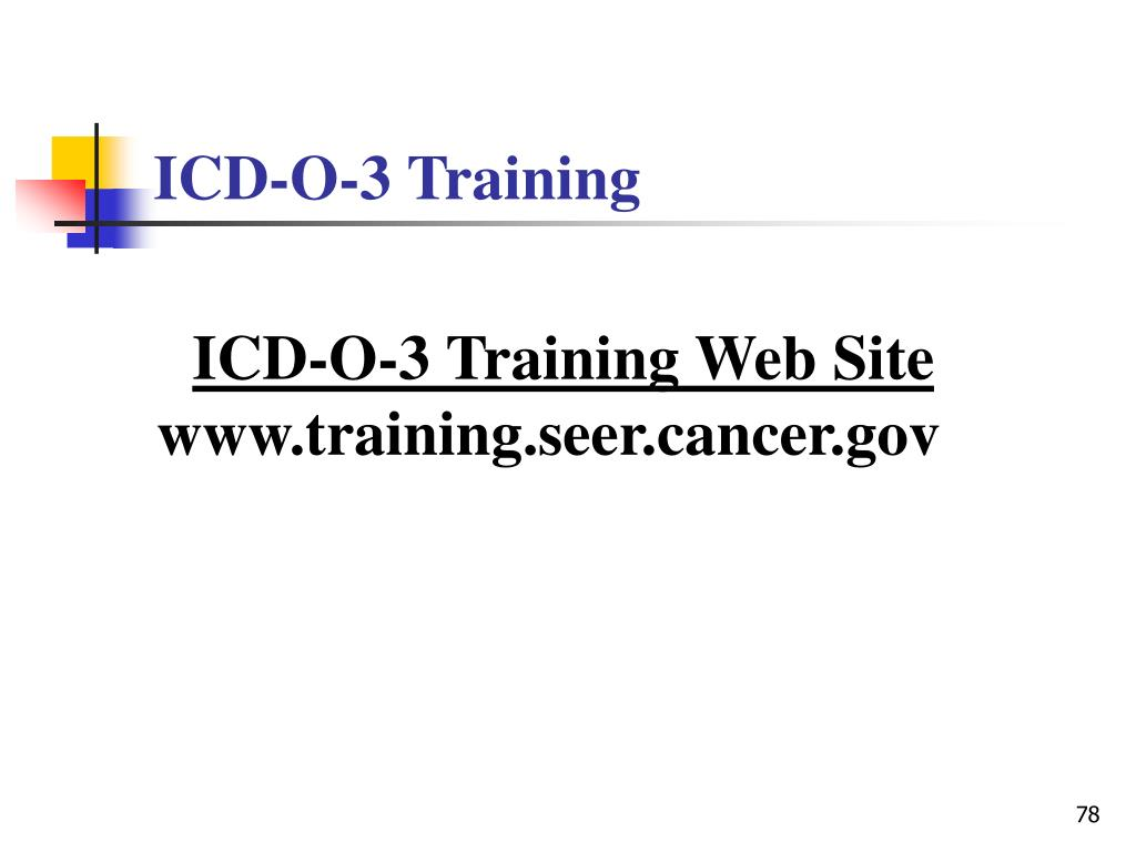 ICD-O-3 Training