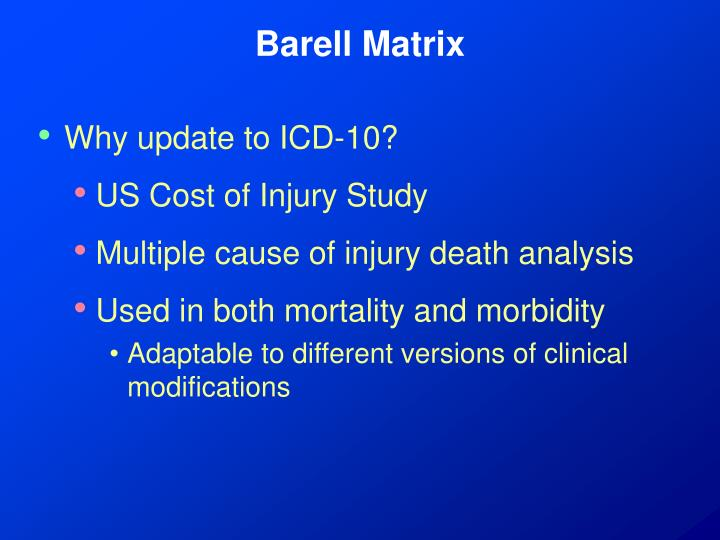 Barell matrix3