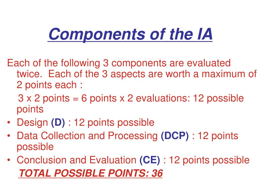 Components of the IA