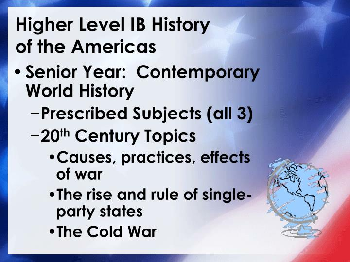 Higher level ib history of the americas3