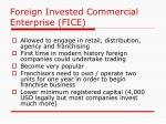 foreign invested commercial enterprise fice