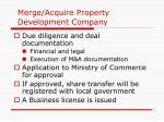 merge acquire property development company
