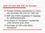 use of non re fie to invest
