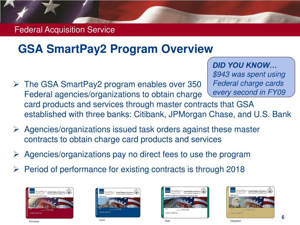 GSA SmartPay2 Program Overview