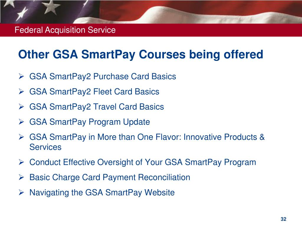 Other GSA SmartPay Courses being offered