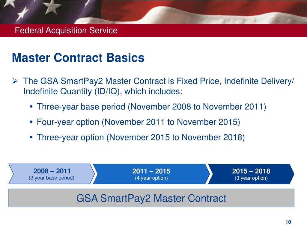 Master Contract Basics