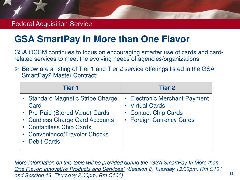 GSA SmartPay In More than One Flavor