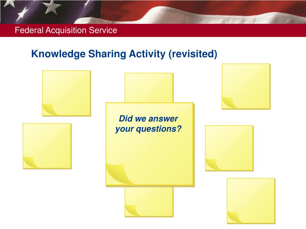 Knowledge Sharing Activity (revisited)