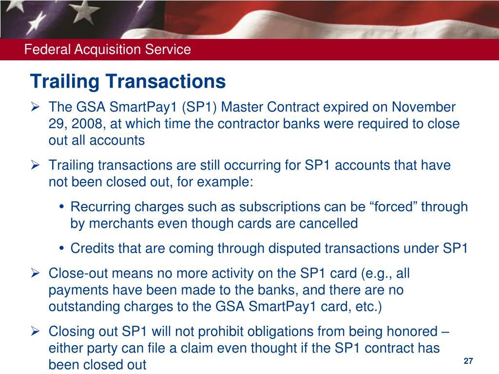 Trailing Transactions