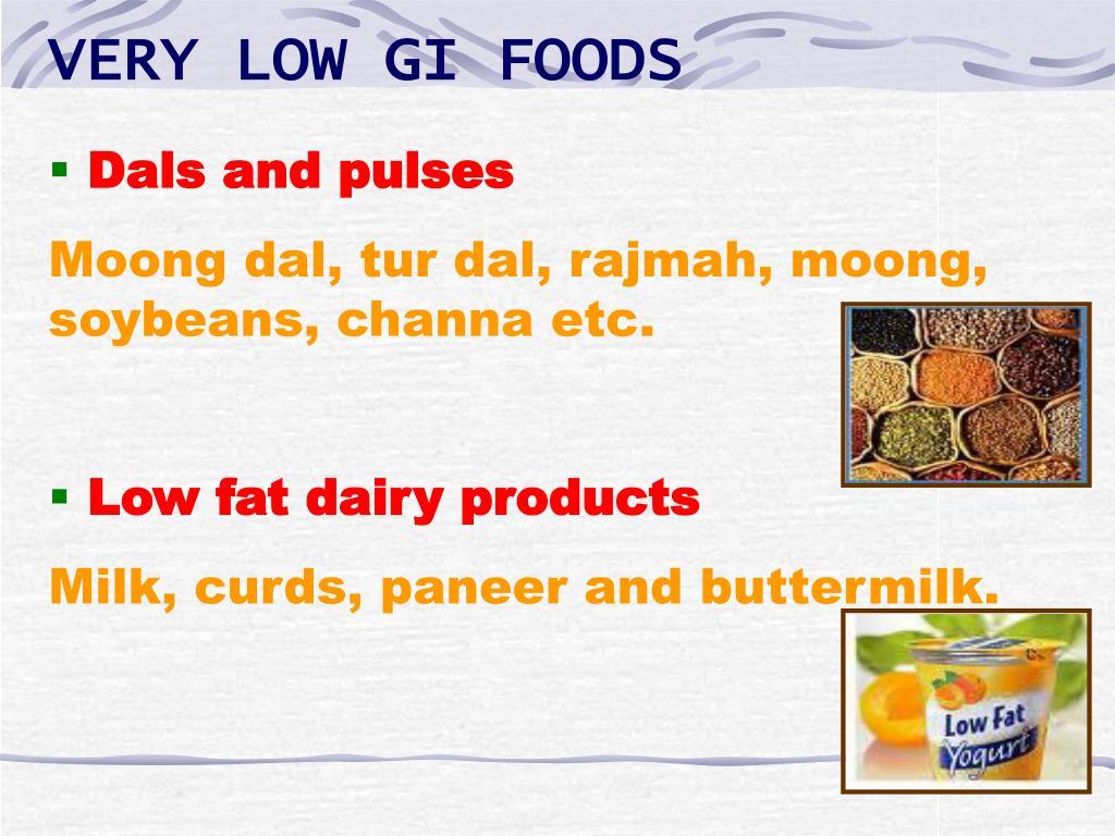 VERY LOW GI FOODS
