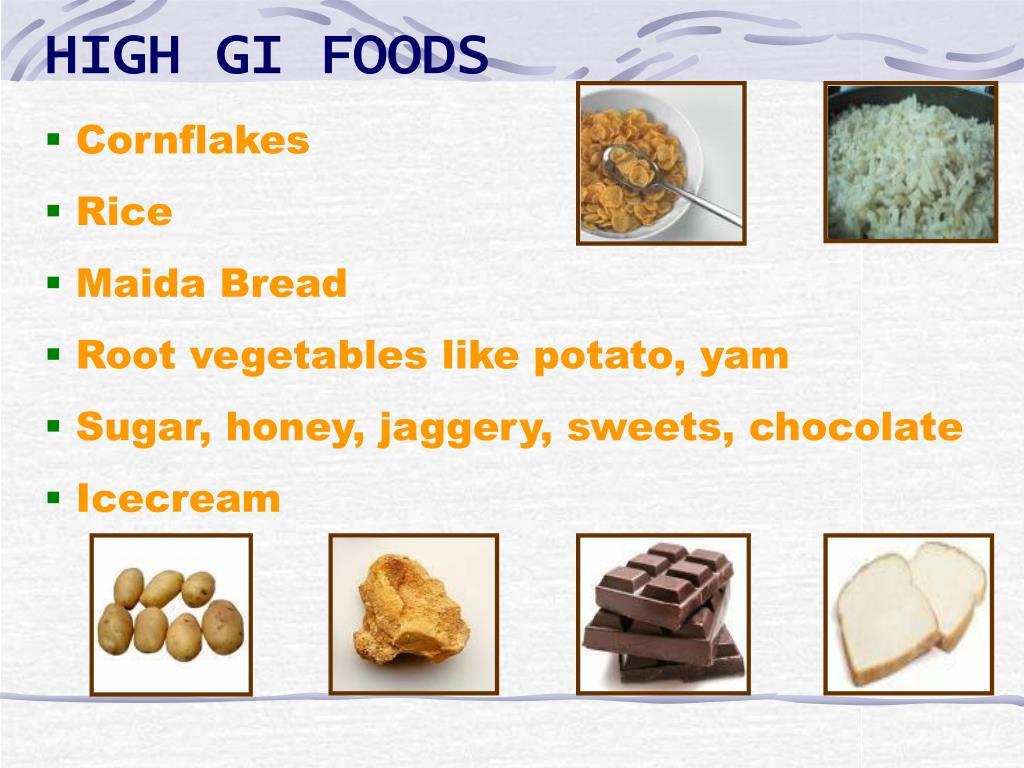 HIGH GI FOODS