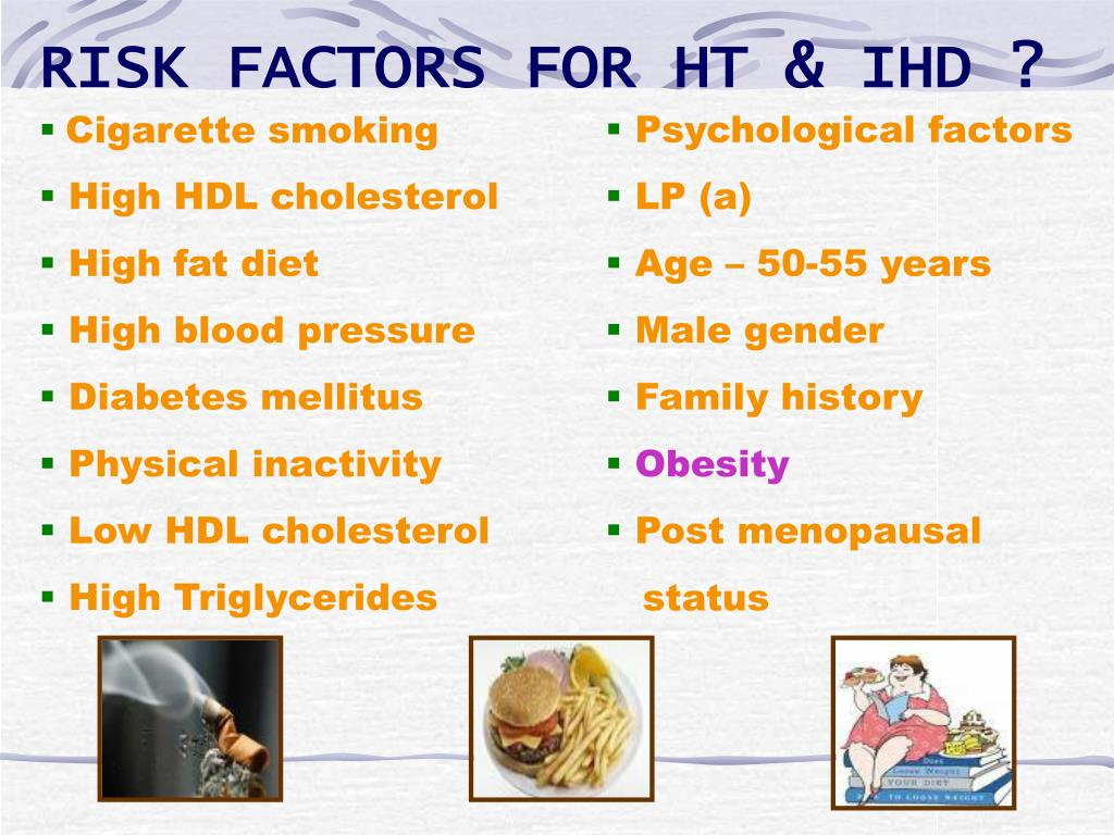 RISK FACTORS FOR HT & IHD ?