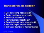 transistoren de nadelen
