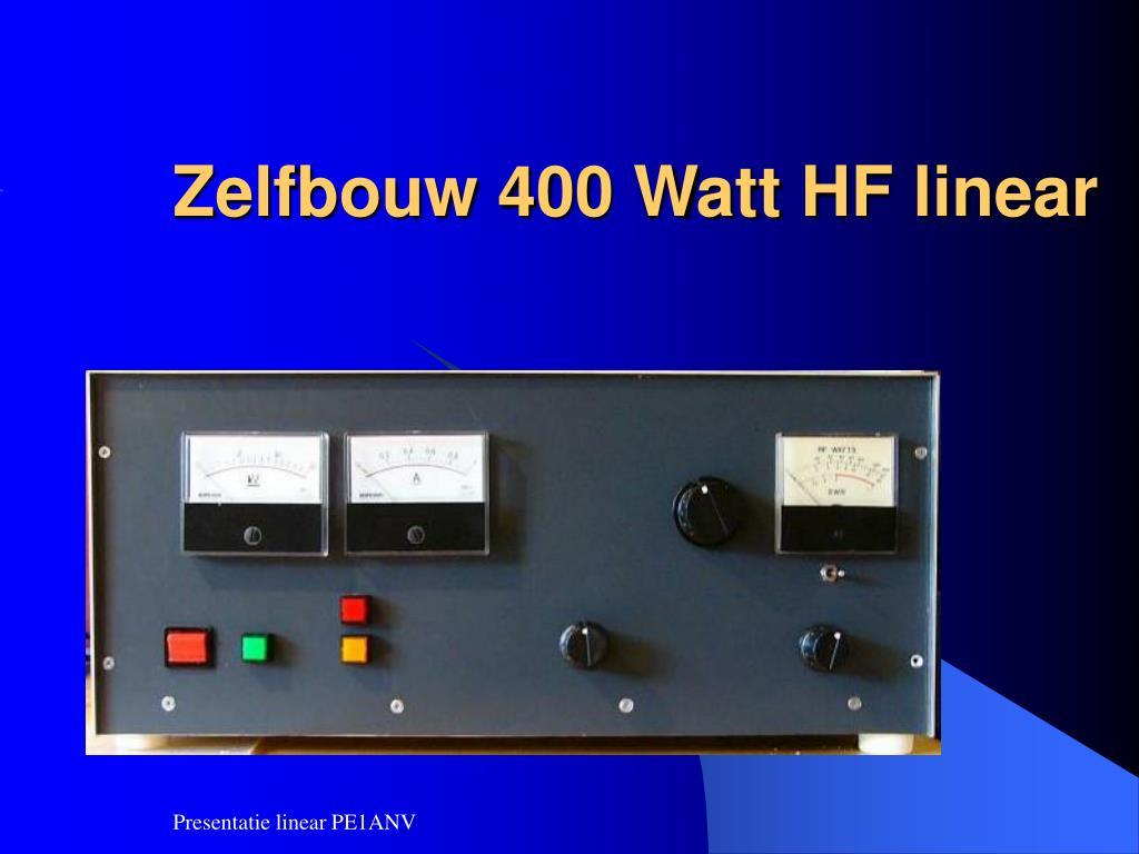 zelfbouw 400 watt hf linear l.