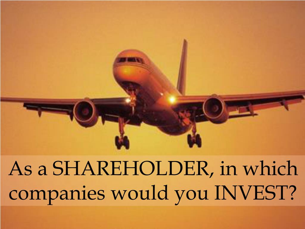 as a shareholder in which companies would you invest