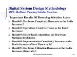 digital system design methodology adsl mo dem choosing suitable structure34
