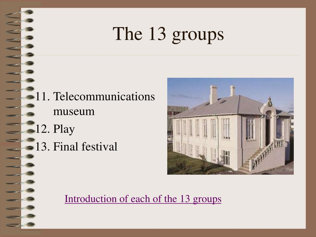 The 13 groups