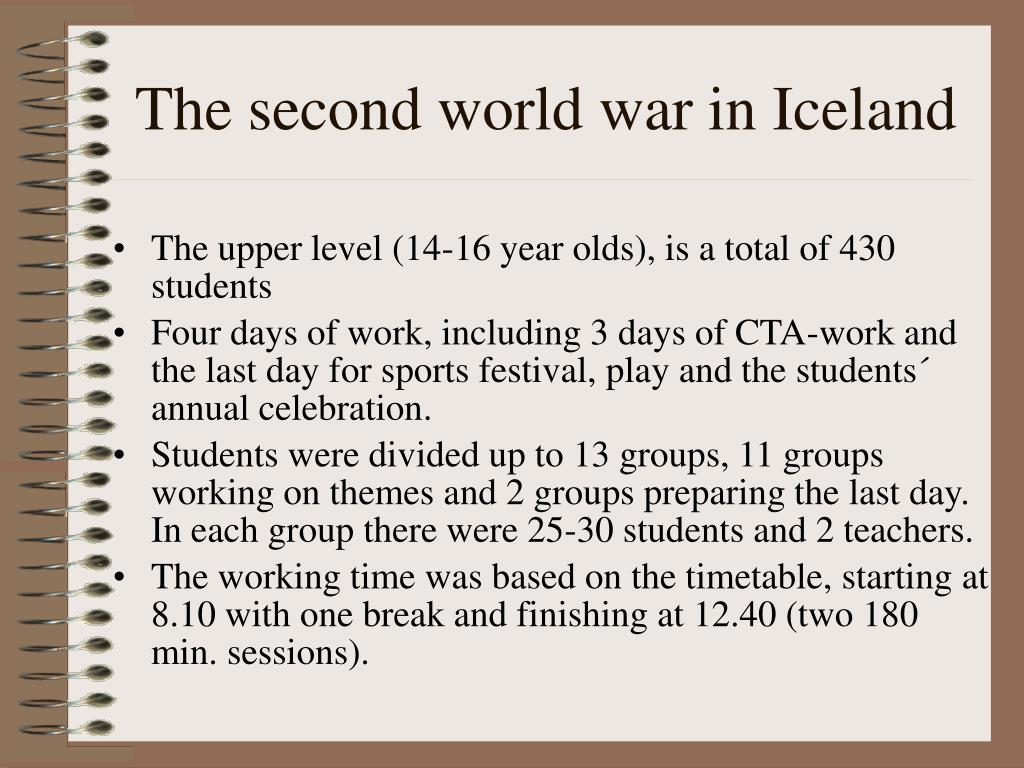 The second world war in Iceland