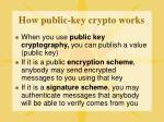 how public key crypto works